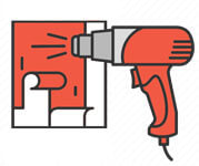 демонтаж на фолио