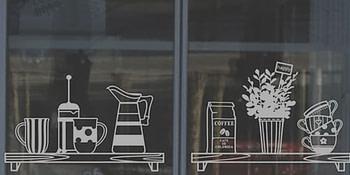 Брандиране на витрини, офиси и интериорни стени с фолио